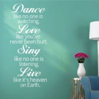Dance Like No-one's Watching ~ Wall sticker / decals